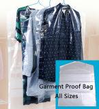 Мешки крышки хранения одежды доказательства насекомого пыли пленки PE прозрачные
