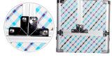 Het Patroon die van Gird van vervaardiging de Dubbele Open kosmetische Doos van het Aluminium vouwen