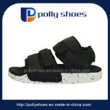 Sandalia negra de la PU de las nuevas del diseño de la tela sandalias de los hombres