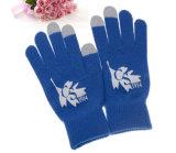 高品質によって印刷されるロゴの編む手袋