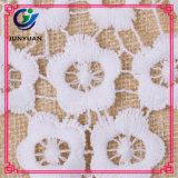 Merletto nuziale africano lavorato a maglia del Organza del reticolo di fiore