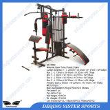 Vente chaude multifonctions Home Gym Equipment (Une station avec des poids empilent 45kgs)