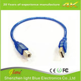 Cable de datos transparente del USB con color azul