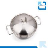 Cookware dello Stockpot del POT del metallo dell'acciaio inossidabile di alta qualità dello SGS di 26cm