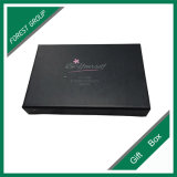 Caja de sombra de ojos del papel del estilo del cajón negro