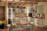 Keukenkast van de Aanbieding van het Meubilair van het huis de Stevige Houten met van het Graniet Marmeren Countertop en van het Roestvrij staal Gootstenen