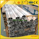 Perfil de alumínio anodizado da extrusão do entalhe de V para a linha da exposição/produção
