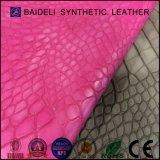 O couro sintético do PVC da alta qualidade para sacos/bolsas modernos da mulher/deve ensacar/bolsa/sapatas