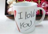 Taza de café fina de la porcelana del corazón del