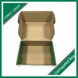 Caja de embalaje de imprenta del zapato verde del papel