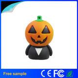Fördernder Geschenk-Halloween-Partei-Karikatur-Kürbis-Kopf USB Pendrive 4GB (JV1125)