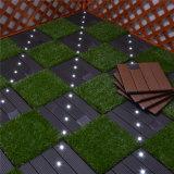 Azulejos solares de la iluminación WPC DIY de la cubierta impermeable económica de la alta calidad para el jardín