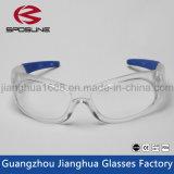 Nuevas gafas de seguridad del laboratorio del claro del diseño con los buenos anteojos de las gafas de seguridad del Ce En166f de las gafas de seguridad de la PC del precio Niza