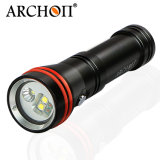 Best-Selling Dive Gear Lightweight Archon W21vp Dois em um Super Bright Small Diving Video Spot Fotografia Light Torch com bateria e carregador para Scuba Diver