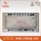 Silver Metal Color Custom Sticker Logo License Plate Flip Frames