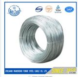 Heißer Sale1.6mm kohlenstoffarmer Zink-Überzogener Stahldraht in der Rolle