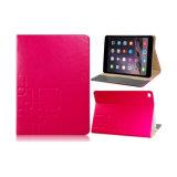 Caso di cuoio di vibrazione dell'aria 2 del iPad di prezzi di commerci all'ingrosso con le fessure per carta del basamento & di accreditamento del supporto
