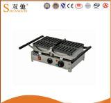 中国の軽食装置のステンレス鋼のワッフルのパン屋の製造者