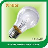 Indicatore luminoso di lampadina incandescente di gelo di A15 15/25/40/60W