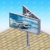屋外の掲示板を広告する二重側面の鋼鉄