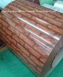 Het houten Patroon verfte de Gegalvaniseerde Rol van het Staal vooraf
