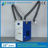 Extractor móvil del gas de soldadura del Puro-Aire con dos brazos que fuman (MP-3600DH)