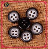 Застегните кнопку черной смолаы детей качества кнопки костюма круглую