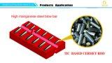 A liga Titanium e o aço de manganês elevado embutiram a fusão de materiais compostos, inserção de Tic