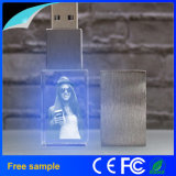 Flash Drive mayorista logotipo grabado del cristal LED USB