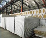 El panel de Sanwich de las lanas de roca/el panel de emparedado de la cámara fría para la casa prefabricada