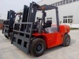 8ton diesel Vorkheftruck met Hydraulische Transmissie en Isuzu Motor 6bg1, 3000mm Mast van de Mening van 2 Stadia de Brede