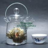 中国のハンドメイドの功妙な茶、花の茶、花盛りの茶、カスタマイズされたギフトのパッケージ(BT002)が付いている咲く茶こし器