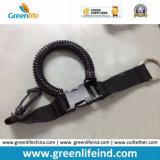 Cinturón de seguridad de la bobina espiral negra del buceo con escafandra para la cámara de vídeo
