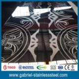 チタニウムの上塗を施してあるローズの金ミラーの装飾的なEtcingのステンレス鋼シート