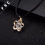 Legierungs-glattes Stern-Seil-Ketten-Gold überzogene hängende Halskette