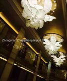 Entwurfs-Luxuxblumen-Form-Flur-Projekt-Kristallleuchter-Lampe (KA1027) mildern