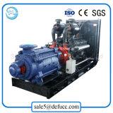De horizontale Pomp van het Water van de Dieselmotor van het Gietijzer Meertrappige Hulp