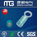 Terminaux de cuivre plaque en fer blanc isolés bleus de boucle de PVC RV2-4