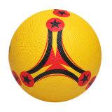 Футбол выдвиженческого нормального размера цветастый резиновый