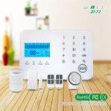 Tarjeta sin hilos y línea telefónica sistema del hogar SIM del telclado numérico del tacto de alarma