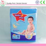 Constructeurs remplaçables somnolents de couche-culotte de bébé du bébé L72 de coton organique doux d'étoile en Chine