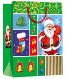 Feiertags-Entwurfs-Form-kundenspezifisches preiswertes gebildetes Großverkauf-Weihnachten Papierbeutel