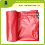 Vinyle ignifuge rouge Tarps, bâche de protection lourde de PVC de 22 onces