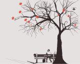 وهميّة أرجوانيّة شجرة أسلوب تصميم لأنّ بيتيّة زخرفة [أيل بينتينغ]