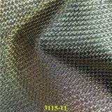 Couro sintético exportado do plutônio da qualidade com grão tecida forma