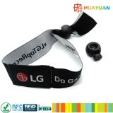 HUAYUAN NTAG213 Festival Tecido RFID Tecido Wristband para Evento