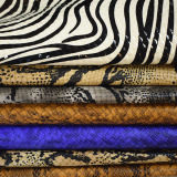 袋のためのよい摩耗およびスクラッチ抵抗のヘビパターン総合的な革