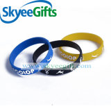 2017 pour les bracelets gravés en relief promotionnels de silicones de mode neuve de cadeau