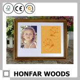 "5 "" X7 "" Mooie Baby Footprint&Handprint in Houten Frame"
