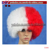 Cosplay peluca afro rizado Mezclado Blonde Hair Accessory Cap peluca (PS2018)